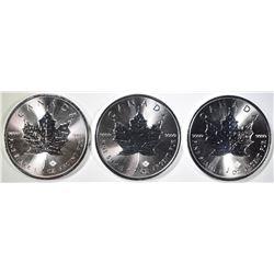 3-2019 CANADA 1oz SILVER CANADA MAPLE LEAF COINS