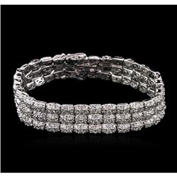 5.50 ctw Diamond Bracelet - 14KT White Gold