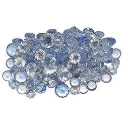 15.55 ctw Round Mixed Tanzanite Parcel
