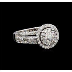 14KT White Gold 1.35 ctw Diamond Ring