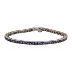 18KT White Gold 4.0 ctw Sapphire Bracelet