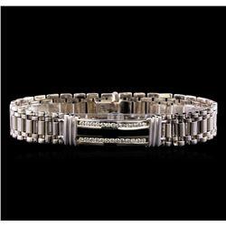 0.88 ctw Diamond Bracelet - 14KT White Gold