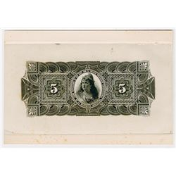 Argentina. ND (ca. 1900s's), Back Proof.