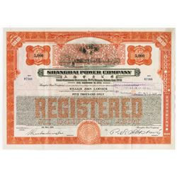 Shanghai Power Company 1934 Issued and Uncancelled Bond.