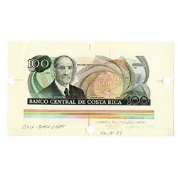 Banco Central de Costa Rica, 1987, Specimen/Proof Note