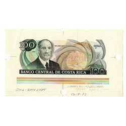 Banco Central de Costa Rica, 1987, Specimen/Proof Note