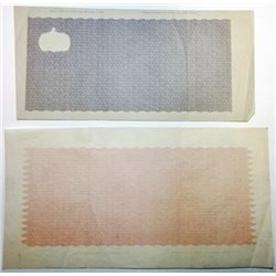 Banco Espanol De L Isla De Cuba ca.1870-80's Undertint Proofs