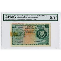Republic of Cyprus. 1961. Specimen Banknote.