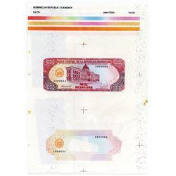 Banque Central de la Republica Dominicana, 1988, Proof Sheet