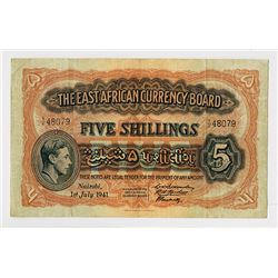 East African Currency Board, 1941 Issue Banknote