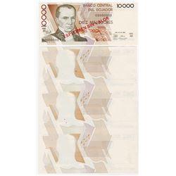 Banco Central del Ecuador, 1988-98, 10000 Sucres Progress Proofs and Specimen.