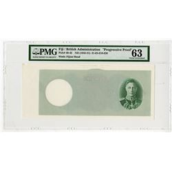Government of Fiji. ND (1942-51). 5 Pounds, Progressive Proof Banknote.