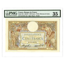 Banque de France, 1936, Issued Note