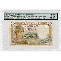 Banque de France. 1940. Issued Banknote.