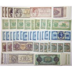 A Large and Colorful Group of 1940s  and 1950s Greek Bank Notes
