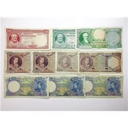 Bank of Greece, An Assortment of 10 Greek Bank Notes, 1930s and 1940s