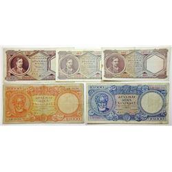 Bank of Greece, 1940-50's Greek Bank  Note Assortment