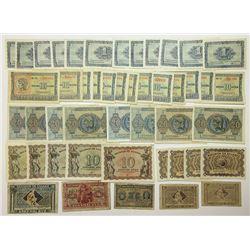 A Nice Assortment of Lower Denomination Greek Paper Money,