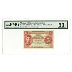Malaya, British Administration, 1941, Issued Banknote
