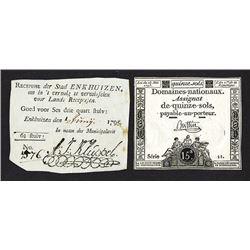 """Enkhuizen 1795 Assignat """"Recepis"""" Issue"""