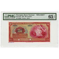 Banco Central de Nicaragua, 1939, Specimen Banknote Rarity.