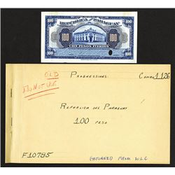 Republica del Paraguay. 1923 Progress Proof Pair with Additional Color separation Pages.