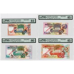 Seychelles Monetary Authority, ND (1989) Specimen Banknote Quartet.