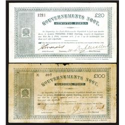 South African Republic Government Notes, 1900 Issued Pair