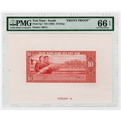 National Bank of Viet Nam. ND (1962). Front Proof Banknote.