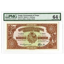 Government of Tonga, 1966, Issued Treasury Note