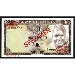 Bank of Zambia. ND (1976). Specimen Note.