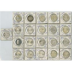 A Pleasing assortment of Austrian Silver 50 and 100 Schillings from 1959 to 1974