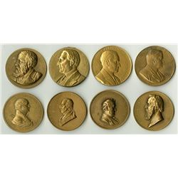 A Nice Grouping of Mostly Presidential Restrike Medals