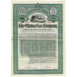 Canada. The Ottawa Gas & Electric Co. 1904 Specimen Bond.