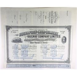 Chile. England. Huena Piden (Chili) Colliery & Rwy Co. Ltd, 1890's Specimen Share Certificate.