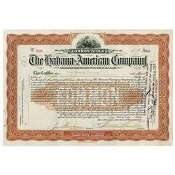Havana-American Co., 1900 Issued Stock Certificate