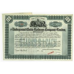 Underground Electric Railways Co. of London 1902 Specimen Stock