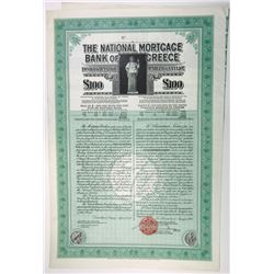 National Mortgage Bank of Greece, 1928 Specimen Bond