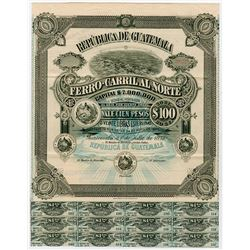 Republica de Guatemala, 1893 File Copy Specimen Bond