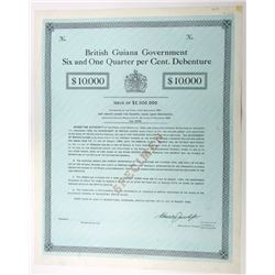 British Guiana Government, 1964 Specimen Bond