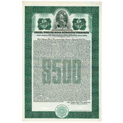 Angol-Magyar Bank Reszvenytarsasag, 1927 Specimen Bond.
