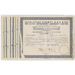 A.P.B. Investment Co. Ltd., 1945-1953 Group of 10 Cancelled Share Certificates.