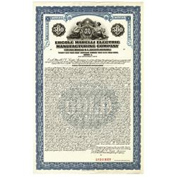 Ecole Marelli Electric Manufacturing Co. 1928 Specimen Bond.