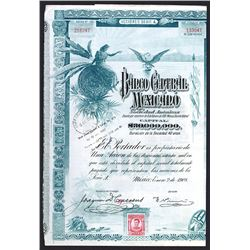 Banco Central Mexicano Issued Bond. 1908.