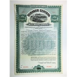 Durango Central Rail Road Co. 1902 Specimen Bond.
