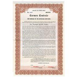 Carmen Centrale, 1916 Specimen Stock Certificate
