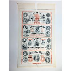Waterloo, Mercantile Bank, $1-2-3-5 ABN Proprietary Proof Sheet