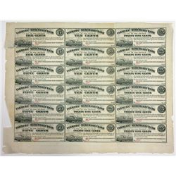 Farmers' and Merchants' Bank, Middletown Point, NJ Uncut Sheet of 18.