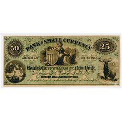 Hatch & Company, Bank of Small Currency Advertising Note ca.1870's.