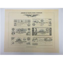 American Bank Note Company 1980-90's Special Collector's Edition Sheet